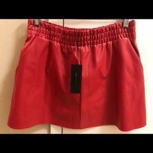 BCBG dark poppy mini skirt